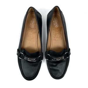Coach Felisha Black Leather Loafers